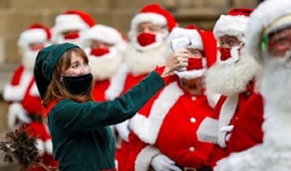 ▲ 파키스탄 데일리 타임스의 사진: 영국의 연수생 산타